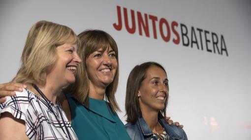 Idoia Mendia en la campaña electoral del País Vasco