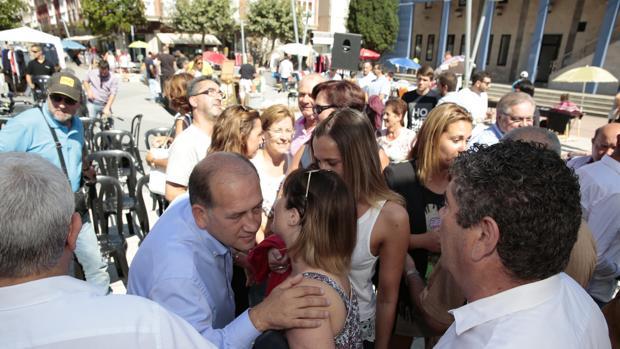 Leiceaga esta mañana en el municipio lucense de Burela
