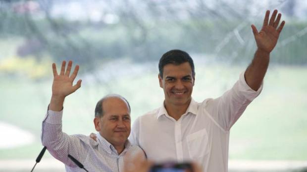 Pedro Sánchez acompañó a Leiceaga en el mitin de Cerceda