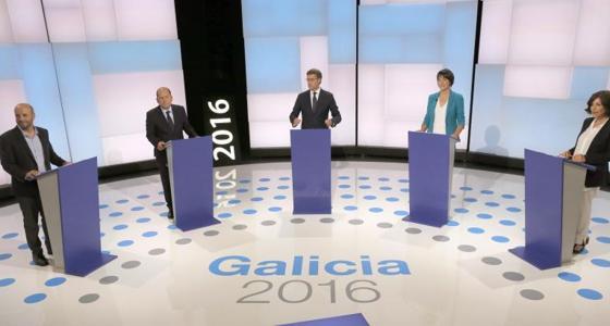Los candidatos durante el debate que se está celebrando en estos momentos
