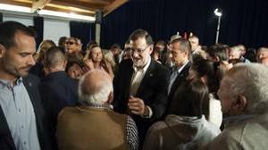 Un edil de En Marea increpa a Rajoy en un mitin en Pontevedra