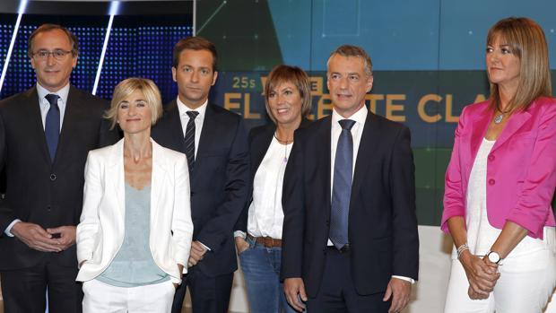 Los candidatos a lehendakari en el debate televisivo