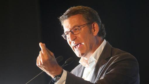 Feijóo durante una de sus intervenciones en esta campaña