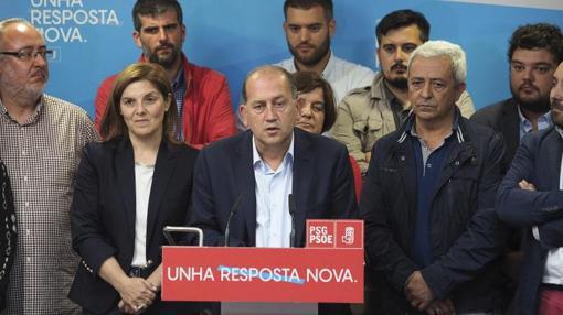 EL candidato del PSdeG, Xoaquín Fernández Leiceaga