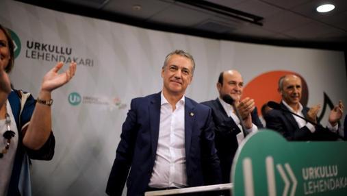 El candidato del PNV, Iñigo Urkullu