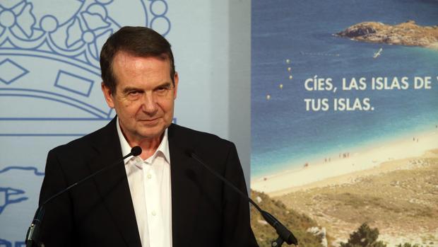 El regidor socialistas de Vigo, Abel Caballero, durante una rueda de prensa