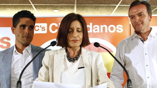 Cristina Losada, en la rueda de prensa posterior al recuento de votos