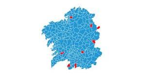 Resultados por municipios en las elecciones de Galicia 2016