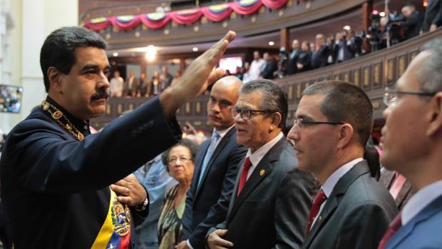 Nicolás Maduro participa en un acto de la Asamblea Constituyente