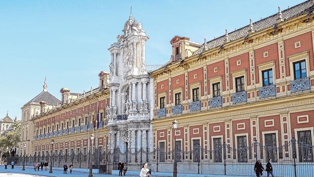 El palacio de San Telmo, sede de la Presidencia de la Junta
