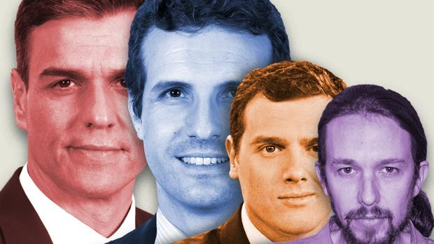 Debate electoral: los cuatro candidatos que van a debatir este lunes y el martes en televisión