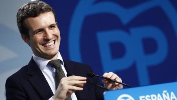 El presidente del PP y candidato a la presidencia del Gobierno, Pablo Casado, en una imagen de archivo