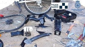 Desarticulado un grupo dedicado al robo y desguace de bicicletas de BiciMAD