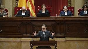 Artur Mas interviene en el Parlamento catalán