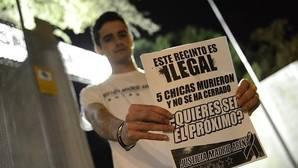 Protesta en el Madrid Arena durante el estreno del Circo del Sol por la ilegalidad del recinto