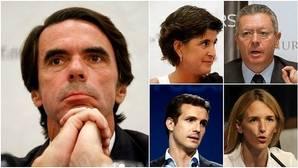 Pablo Casado se convierte en «puente» entre Aznar y Rajoy en FAES