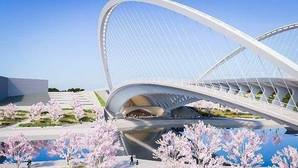 Recreación del diseño de uno de los puentes