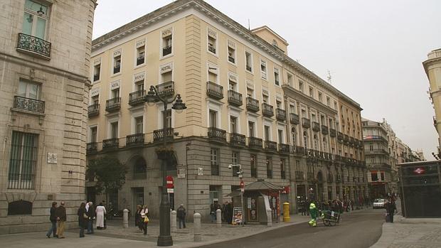 La Casa de Cordero, edificio situado en la calle Mayor, 1, junto a la Puerta del Sol