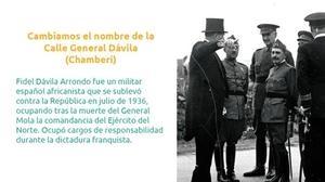 Los nombres que baraja Ahora Madrid para rebautizar las calles franquistas