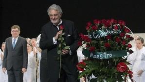 Plácido Domingo celebra su cumpleaños en Valencia