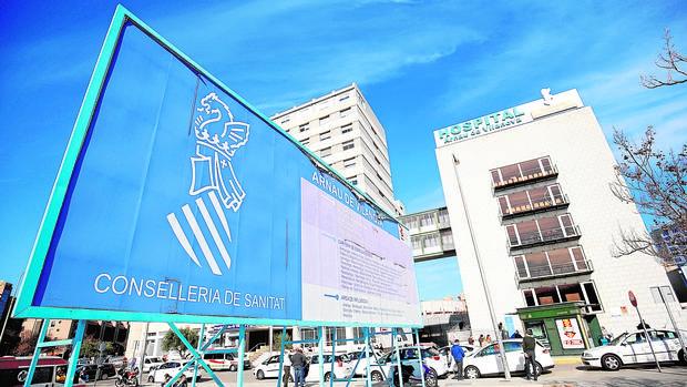 Imagen del hispital Arnau de Vilanova tomada ayer