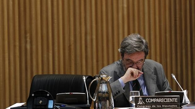 Narcís Serra, en 2014 en la comisión de Economía del Congreso