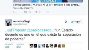 Casado deja sin respuesta a Otegi después de enzarzarse por Twitter