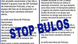 La Policía desmiente un bulo de Whatsapp que informa de un inminente atentado en España