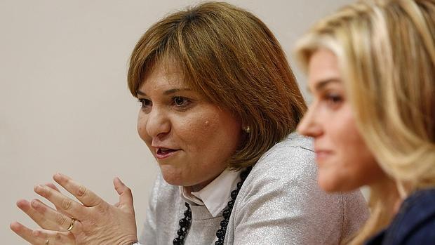 Isabel Bonig, este miércoles durante su comparecencia en las Cortes Valencianas