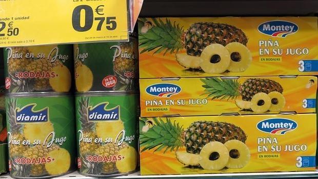 Productos de Nudisco en un lineal de supermercado