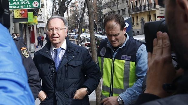 Miguel Bernad, el pasado 15 de abril tras su detención por el caso Ausbanc-manos Limpias