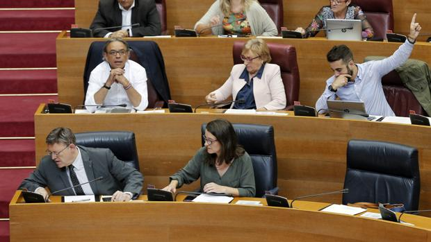 Imagen de la votación sobre la tramitación de la ley de RTVV