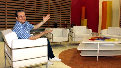 Ramón García en el plató de «En Compañía»