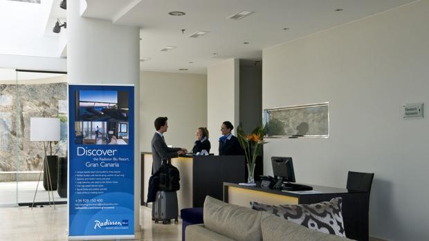 Recepción de otro hotel de la cadena en Mogán, Gran Canaria