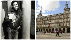 El joven Obama que paseó por la Plaza Mayor de Madrid