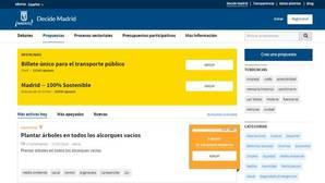 Las propuestas más «absurdas» de la web de participación de Carmena