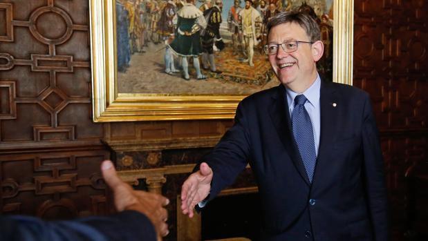 El presidente de la Generalitat, Ximo Puig, este jueves en el Palau