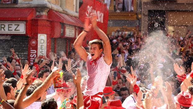 Celebración de los Sanfermines en Pamplona