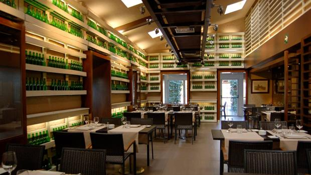 El interior del restaurante asturiano El Oso