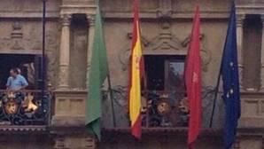 Queman una bandera de España en un municipio de Navarra