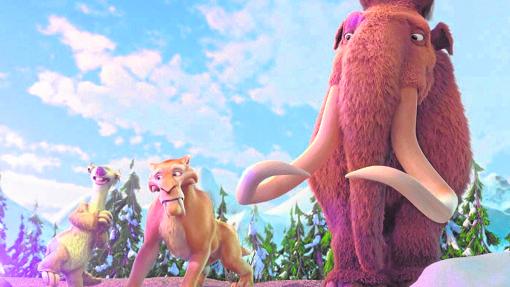 De izda. a dcha., Sid, Diego y Manny, tres personajes de la película