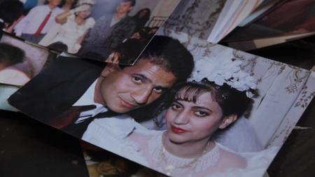 Maysun, el día de su boda con Osama, en Damasco.