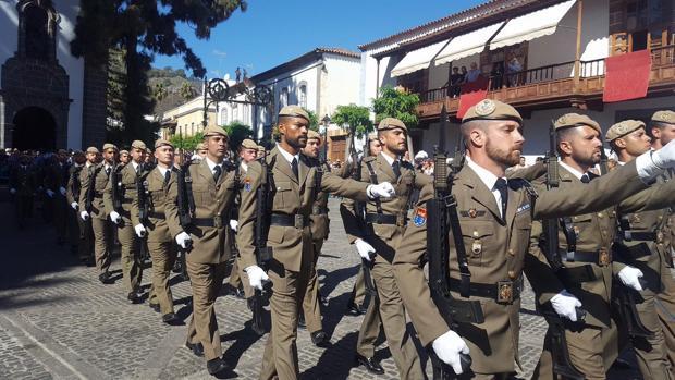 Regimiento Canarias 50, este jueves, en honor a la Virgen del Pino, Gran Canaria