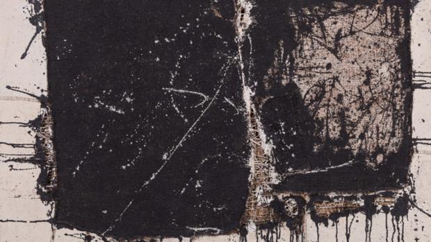 Imagen de Cuadro 18 en técnica mixta sobre arpillera de Manolo Millares