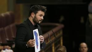 Rufián, a Rajoy: «Fueron ustedes quienes rompieron la soberanía nacional»