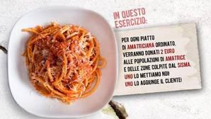 Madrid se une a «AMAtriciana Solidaria»: come pasta y dona 2 euros a los afectados por el terremoto