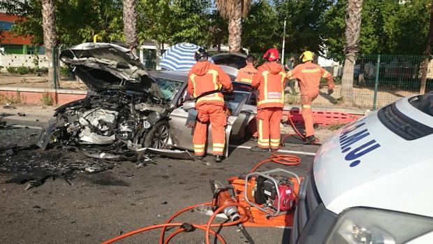 Imagen del accidente registrado este domingo