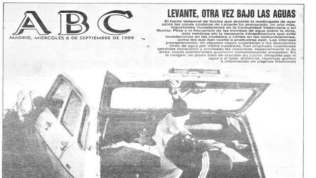 Detalle de la portada de ABC del miércoles 6 de septiembre de 1989