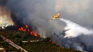 Ximo Puig califica el incendio de Jávea como un «acto de terrorismo medioambiental»