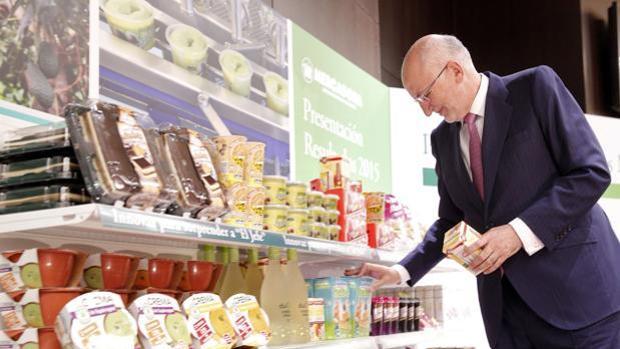 Imagen de Juan Roig durante la última presentación de resultados de Mercadona